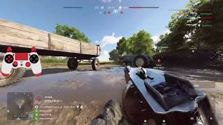 Battlefield 5: HOW I CONTROL RECOIL SO GOOD (0% Aim Assist with Controller Cam) Aggressive Medic