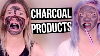 Testing CHARCOAL Beauty Products?! (Beauty Break)
