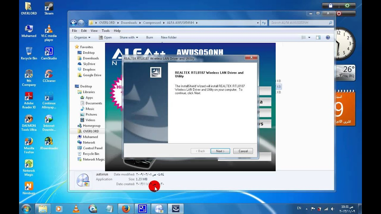 driver realtek rtl8187 wireless windows 7