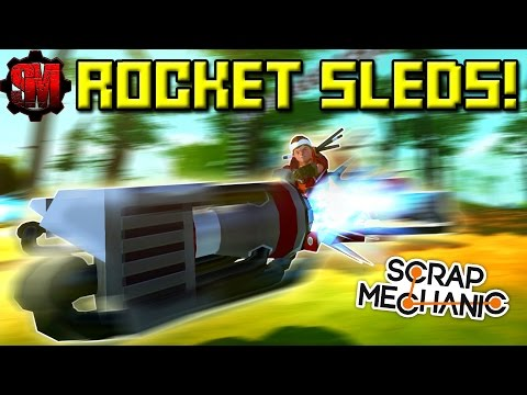 ROCKET SLED RACE! (Thrusters Only!) - Scrap Mechanic Multipl