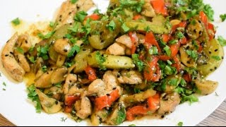 Овощной микс с курицей под соевым соусом. Рецепт от club-cook