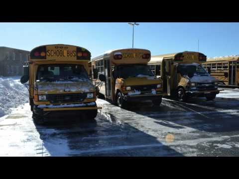 Snow Day at the Bus Garage