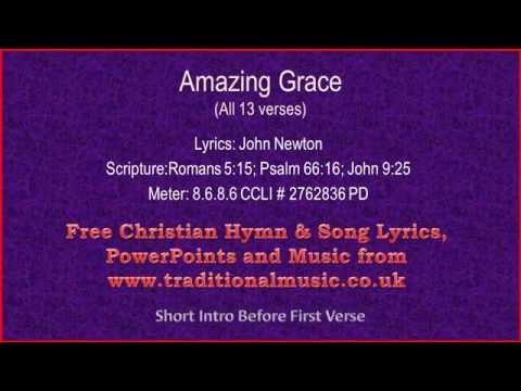 Amazing Grace(Original With All 13 verses)(MP31) - Hymn Lyrics & Orchestral Music