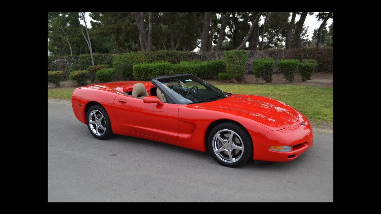 sold 2001 corvette convertible in torch red with only 24k miles for sale by corvette mike youtube. Black Bedroom Furniture Sets. Home Design Ideas