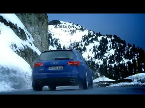 Audi RS6 Vs Para-skier: French Alps Race (HQ) - Top Gear - BBC