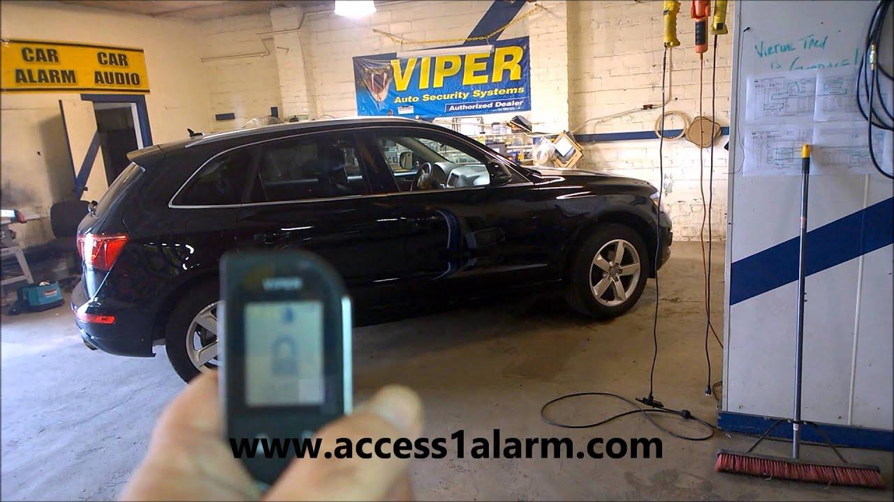 Audi Q5 2-Way Viper Remote Start with SmartStart Smartphone Control - YouTube