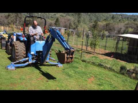 New Holland Tractor Estate Sale Backhoe Browns Valley CA Barn Tool Sale