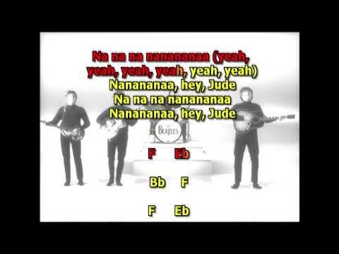 Hey Jude Beatles best karaoke instrumental lyrics chords