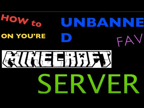 HOW to get UNBANNED on you're FAV MINECRAFT SERVER!!!