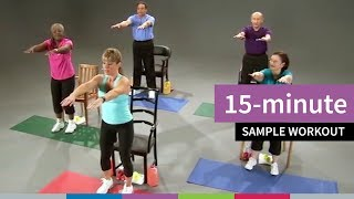 In this 15-minute video that features exercises for seniors, go4life fitness instructor sandy magrath leads older adults through a workout featuring warm u...