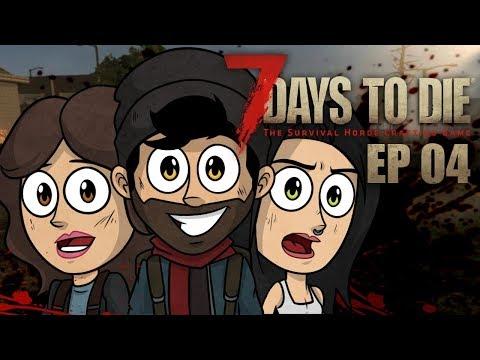 EL LANZACOHETES SORPRESA Y LA ZOMBIE GRITONA   7 Days to Die Coop #4