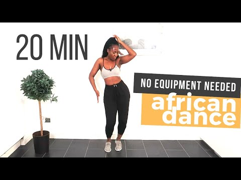 AFRICAN DANCE WORKOUT 20 min (FUN!!) | Afrifitness | No equipment