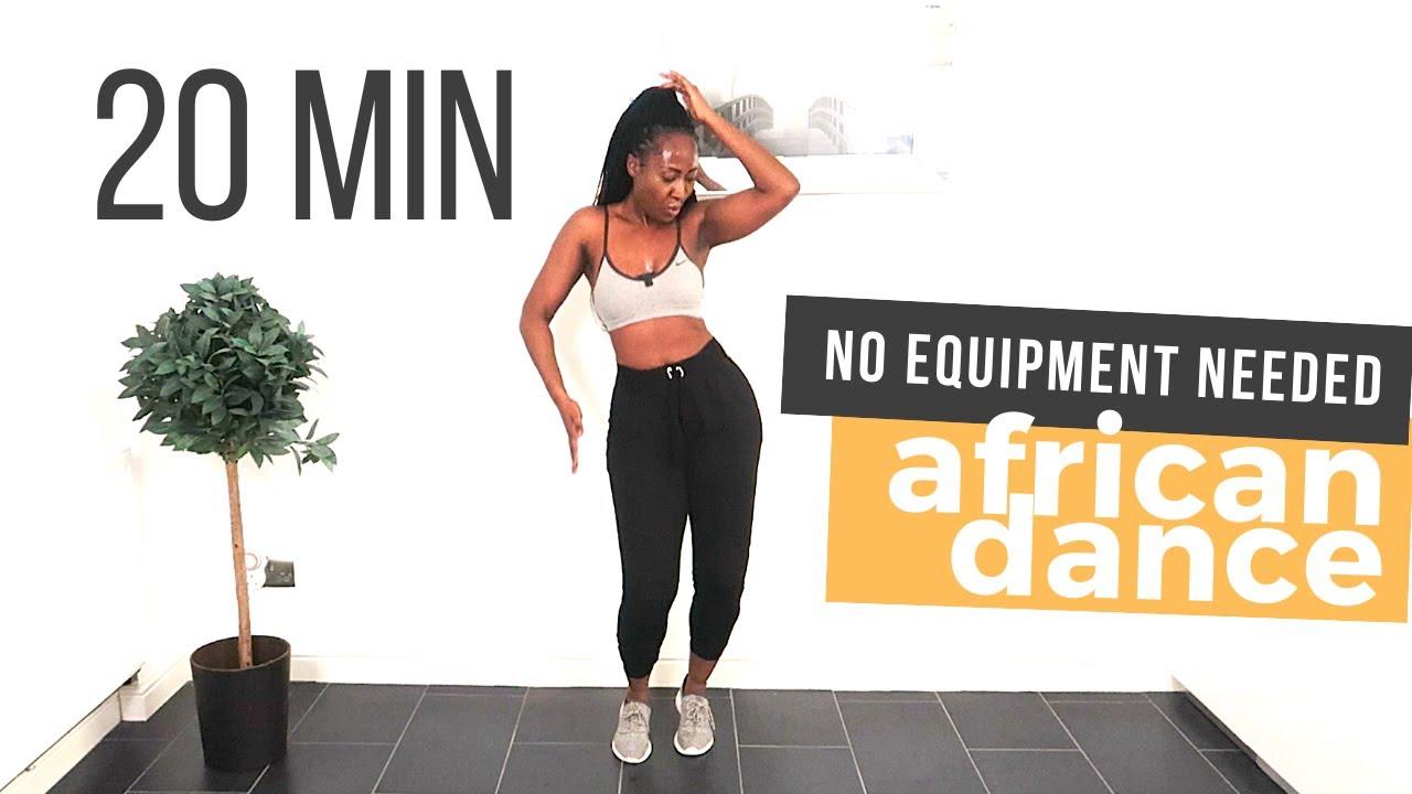 AFRICAN DANCE WORKOUT 20 min (FUN!!) | Afrifitness | No equipment