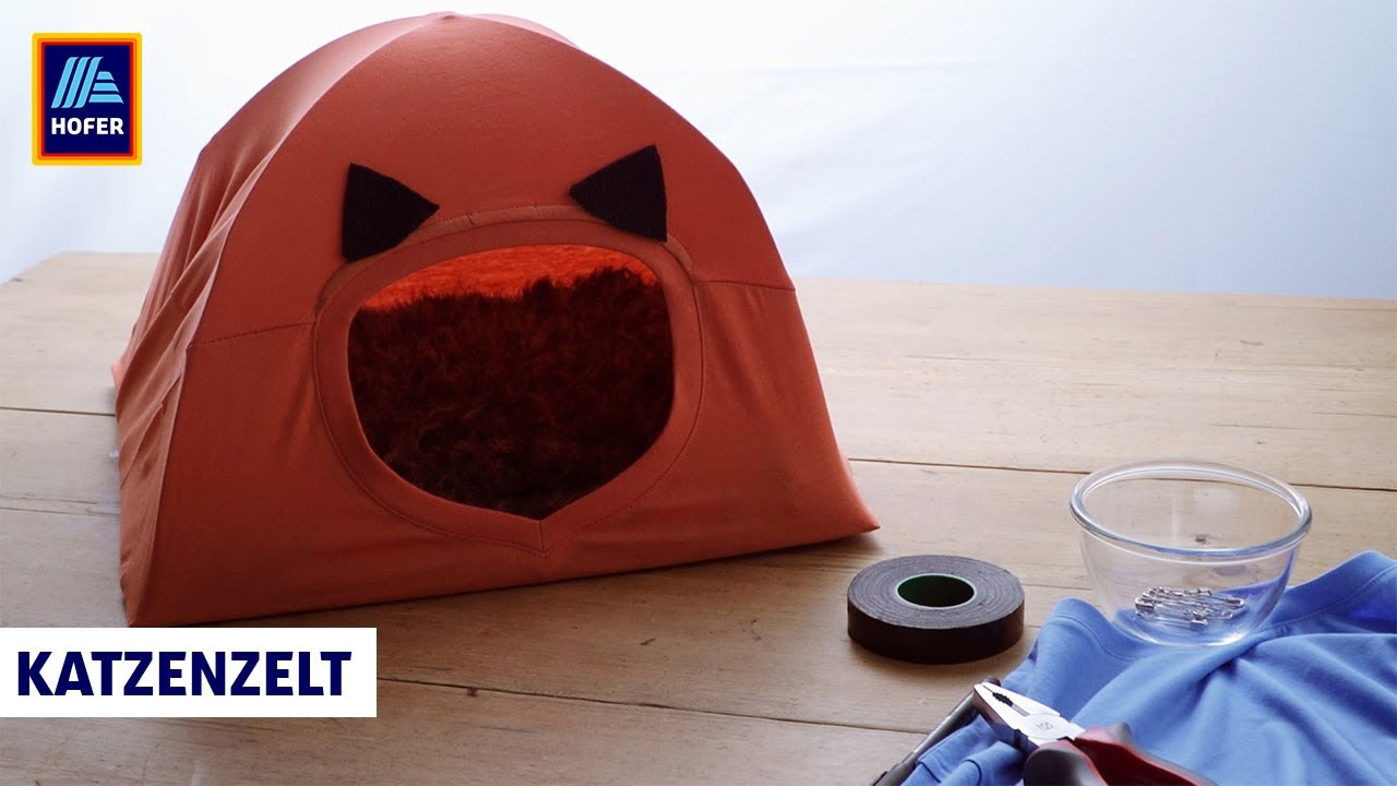 katzenzelt – hofer bastelbox - youtube