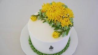 flower cake decorate tutorial