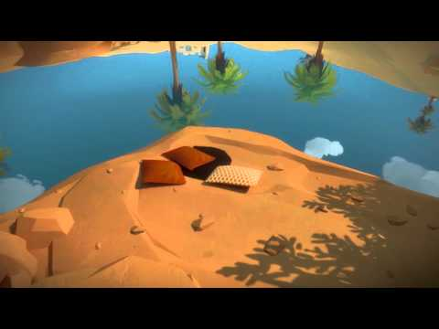 The Witness - Symmetry Area: #5 Outline Rocks in Water Tracing Line Puzzle (In Between Trees)