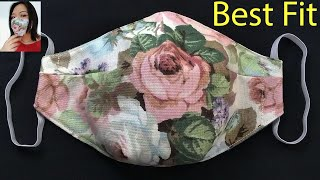 Breathable Face Mask Sewing Tutorial How to make a Face Mask Face Cover Cómo hacer Mascarilla
