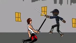 Gangster vs Street Hombre. La lucha de dibujos animados de vídeo. cm Alif. Dibujar dibujos animados 2.