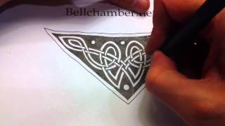 How to Draw Celtic Patterns 35 - Triskele from Chi Rho page of Kells 9of9