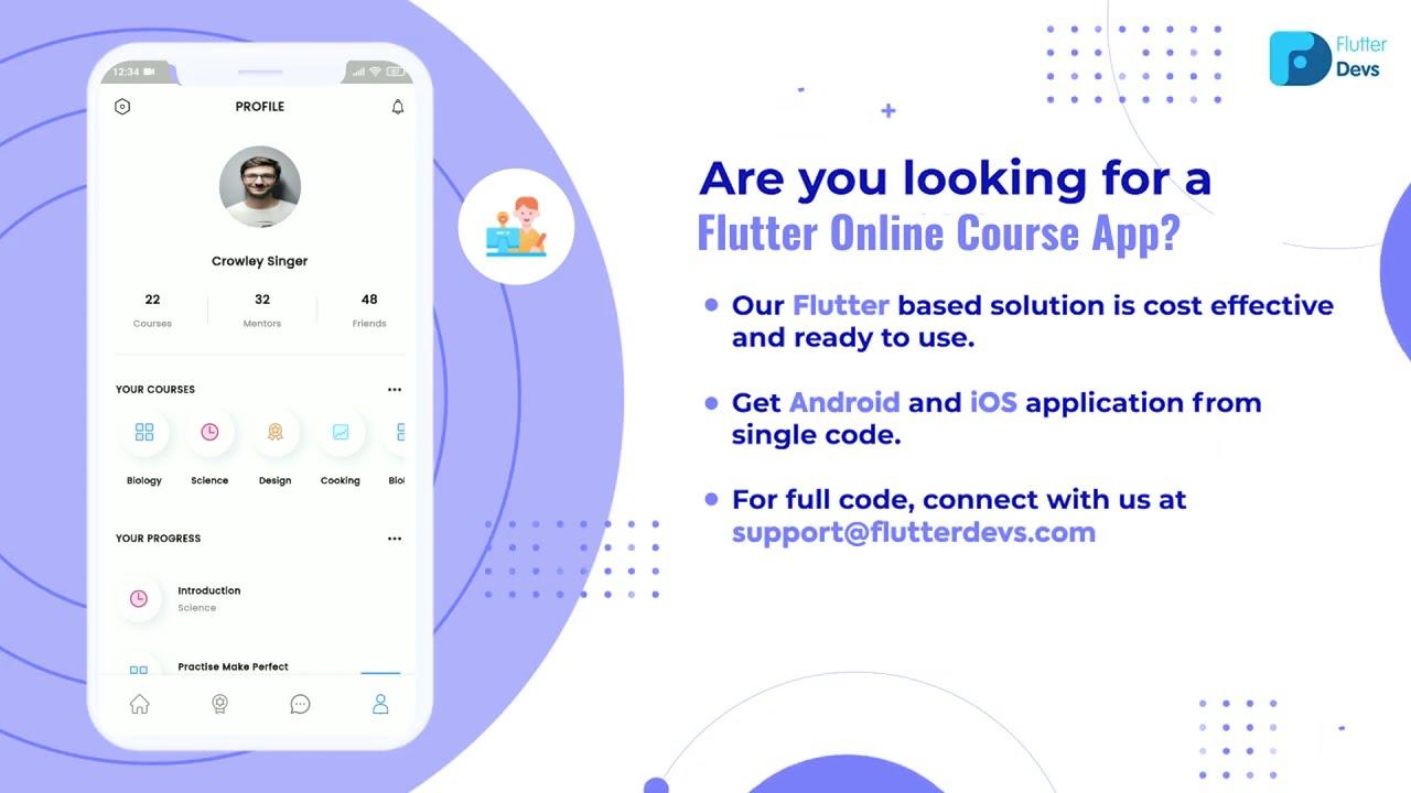 Flutter Online Course App