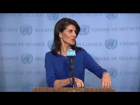 Nikki Haley. UN shameful bias towards Israel.
