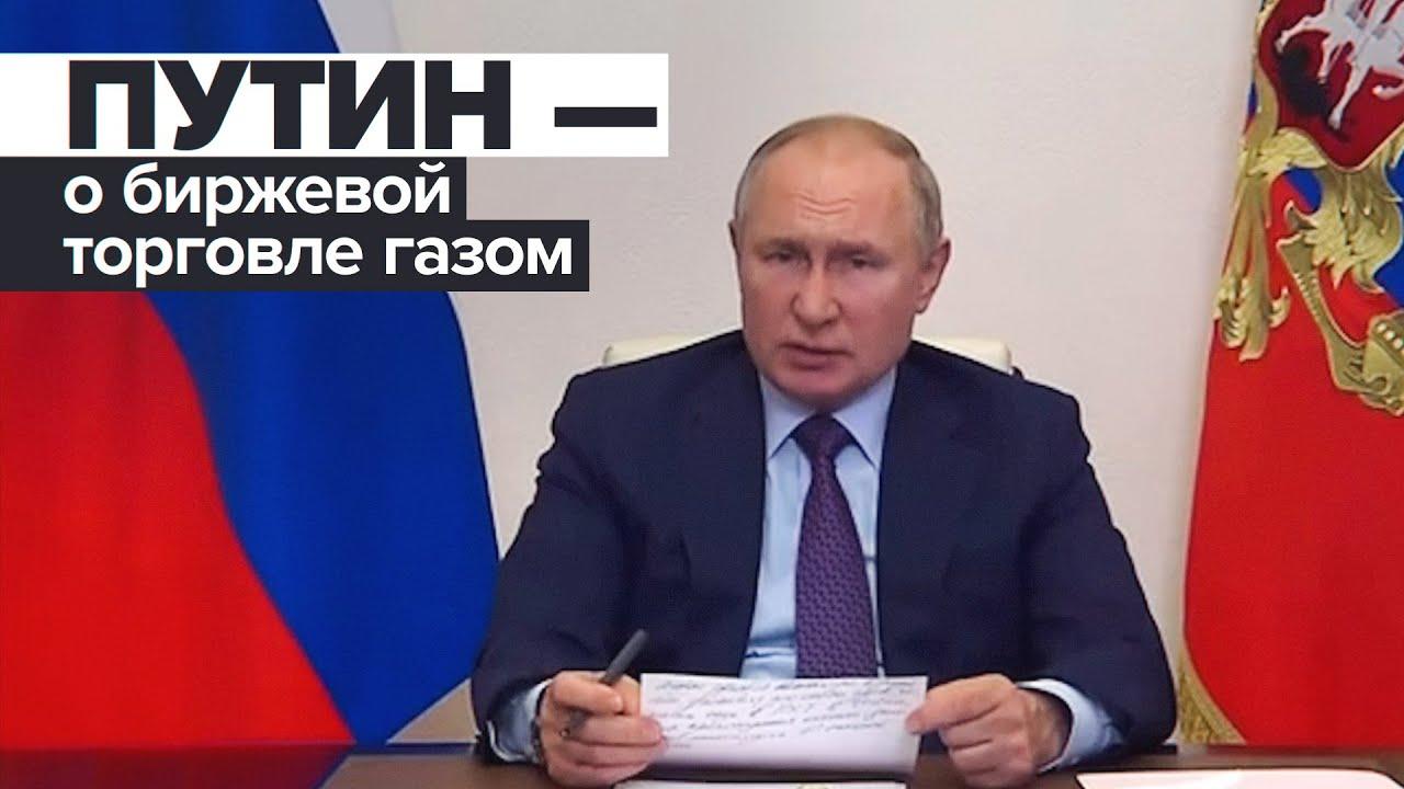 «Это же не часы, трусы и галстуки»: Владимир Путин об идее увеличить предложение газа на рынке