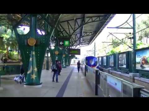 香港自由行-「市區到迪士尼樂園交通」港鐵中環站步行往香港站轉乘東涌線前往迪士尼樂園disneyland-hong-kong