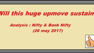 Will this huge upmove in Nifty and Bank Nifty sustain. My Analysis.