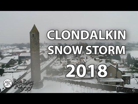 Snow Storm Emma - Clondalkin Village 2018