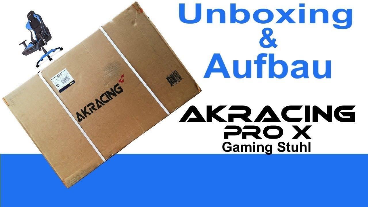 AKRACING Pro X Gaming Stuhl Unboxing & Aufbau Pro X