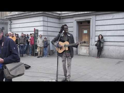 No Woman, No Cry   Reggae busker street performance