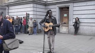 No Woman, No Cry  [cover] Reggae busker (street performance)