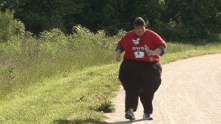 Run For Your Life Obese Man Running 5km Races To Shed The Pounds