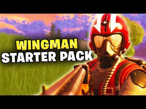 WINGMAN STARTER PACK GAMEPLAY - Fortnite Battle Royale
