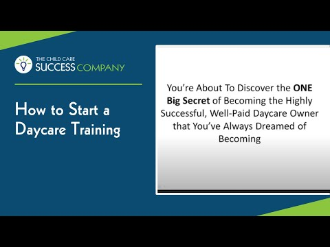 How to Start a Daycare Training