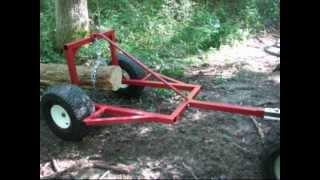 ATV Log Skidder Arch Hauler