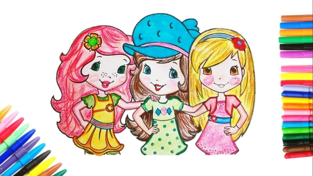Comment Colorier 3 Filles Coloriage Pour Fille Apprendre à Colorier Pour Les Enfants