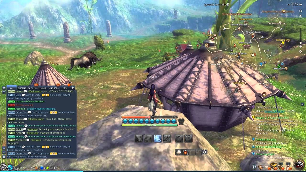 Blade and Soul Lycandi Foothills Beautiful Map - YouTube
