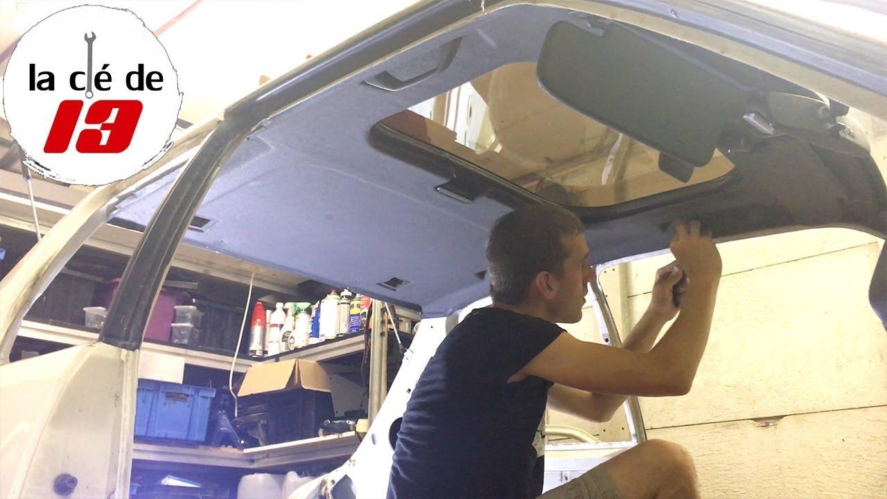 demontage ciel de toit et toit ouvrant 205 gti partie 1 youtube. Black Bedroom Furniture Sets. Home Design Ideas