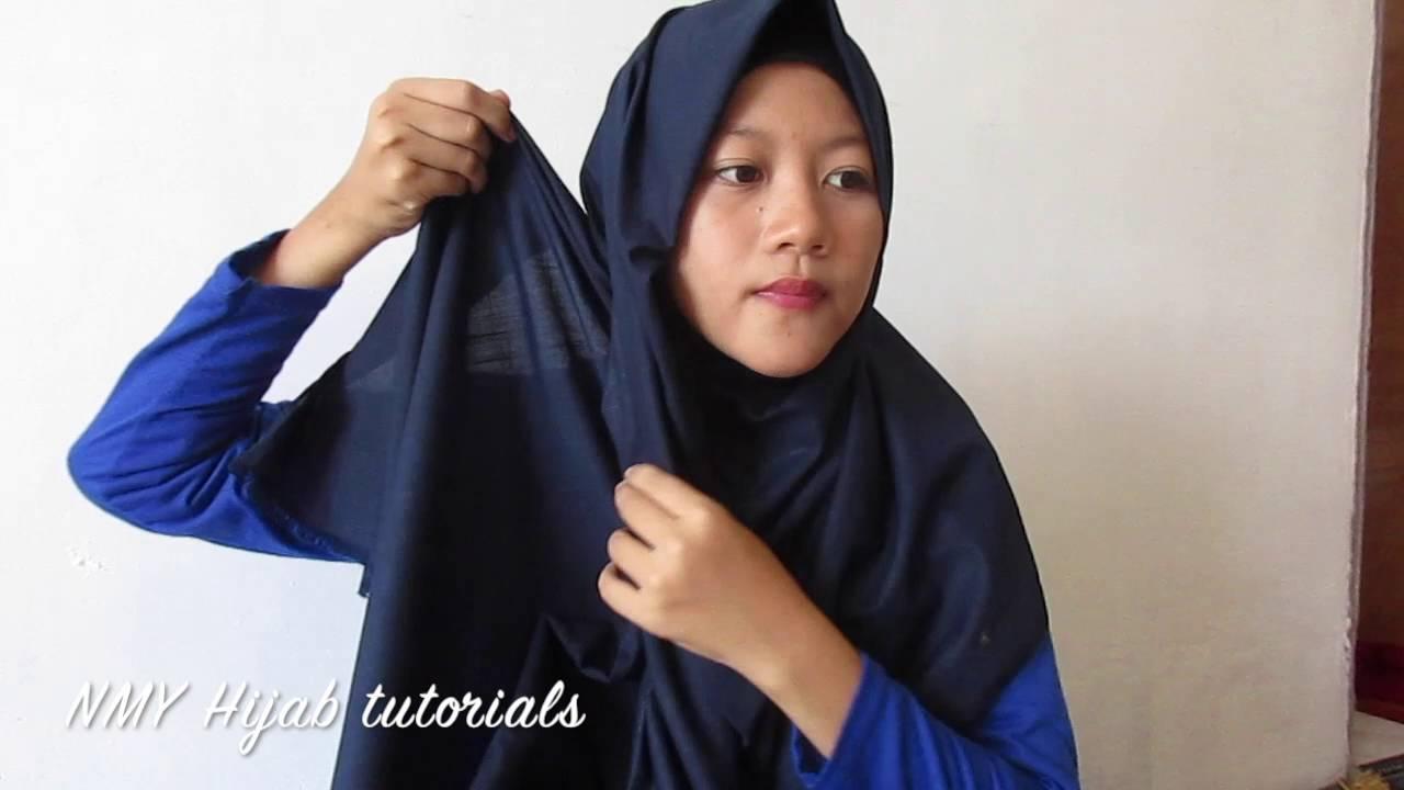 Tutorial Hijab Pashmina Segi Empat Simple Harian NMY Hijab