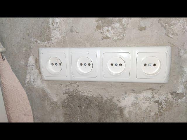 Монтаж розеток в бетонной стене перфоратором Makita HR2610