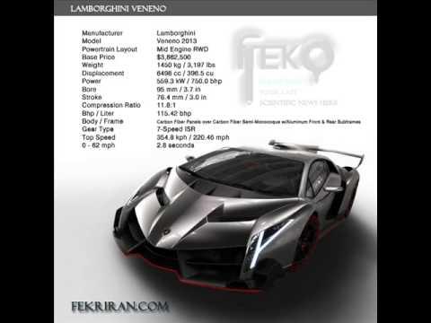 Lamborghini Veneno Specifications + Engine Voice - YouTube