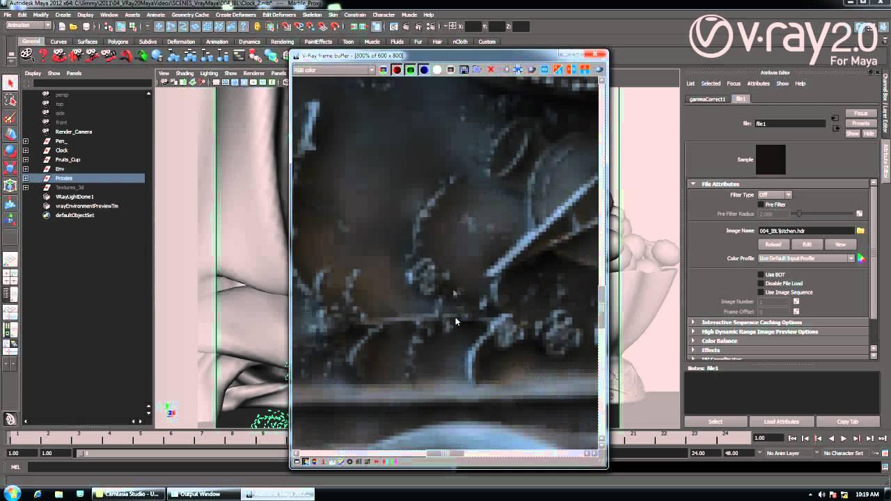V ray 20 for maya image based lighting youtube baditri Gallery