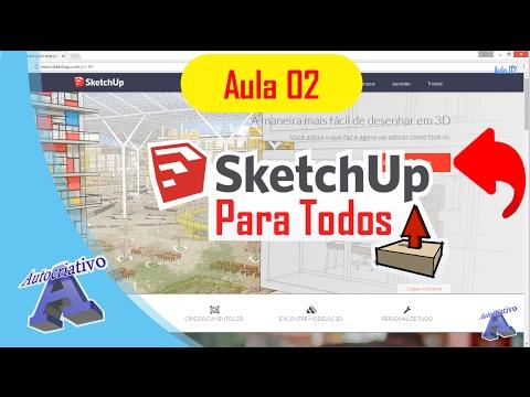 Curso de SketchUp Para todos - Aula 02/50 - Instalação do Programa - Autocriativo