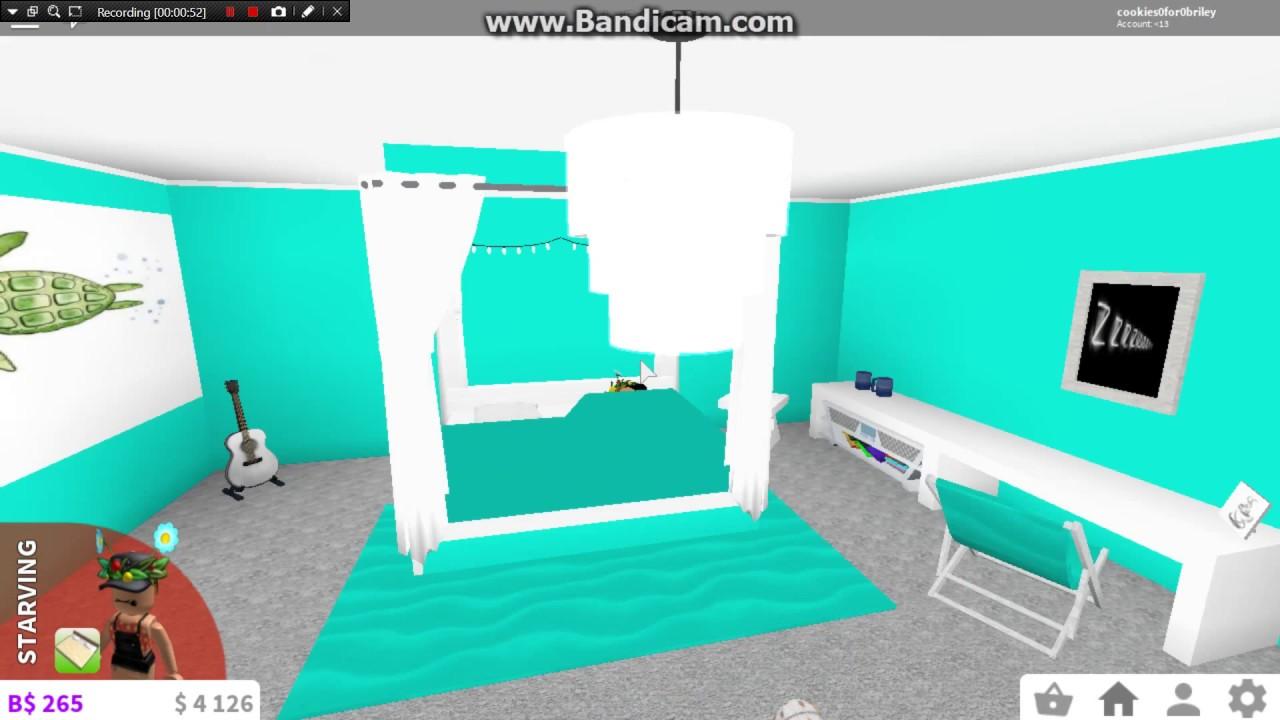 Roblox Bloxburg || Teal bedroom - YouTube