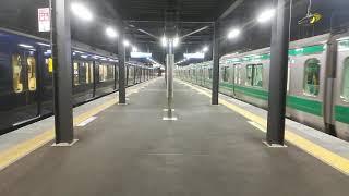 【相鉄】本線と直通方面がほぼ同時に発車します。