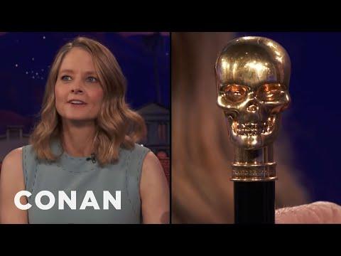 Jodie Foster Has A Badass Skull Cane   CONAN on TBS