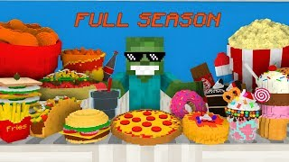Monster School FULL SEASON: Work at Cinema, Pizza, Taco, Fried Chicken & More - Minecraft Animations