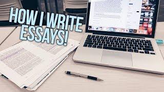 HOW I WRITE ESSAYS (+ a very stressful day)