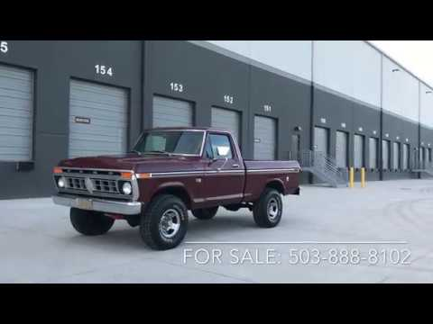 F250 Short Bed For Sale >> Sold 1976 Ford F100 Ranger 390 Short Bed 4x4 Pickup Truck Walk Around